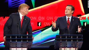 Sparks Fly in CNN Debate Between Donald Trump & Ted Cruz Square-off in Presidential Debate Houston, Texas; Lies, Records, Electability, Toughness Citizenship and More Front and Center